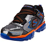 Skechers Boy's Hypersonic Gunmetal and Royal Synthetic Sports Shoes
