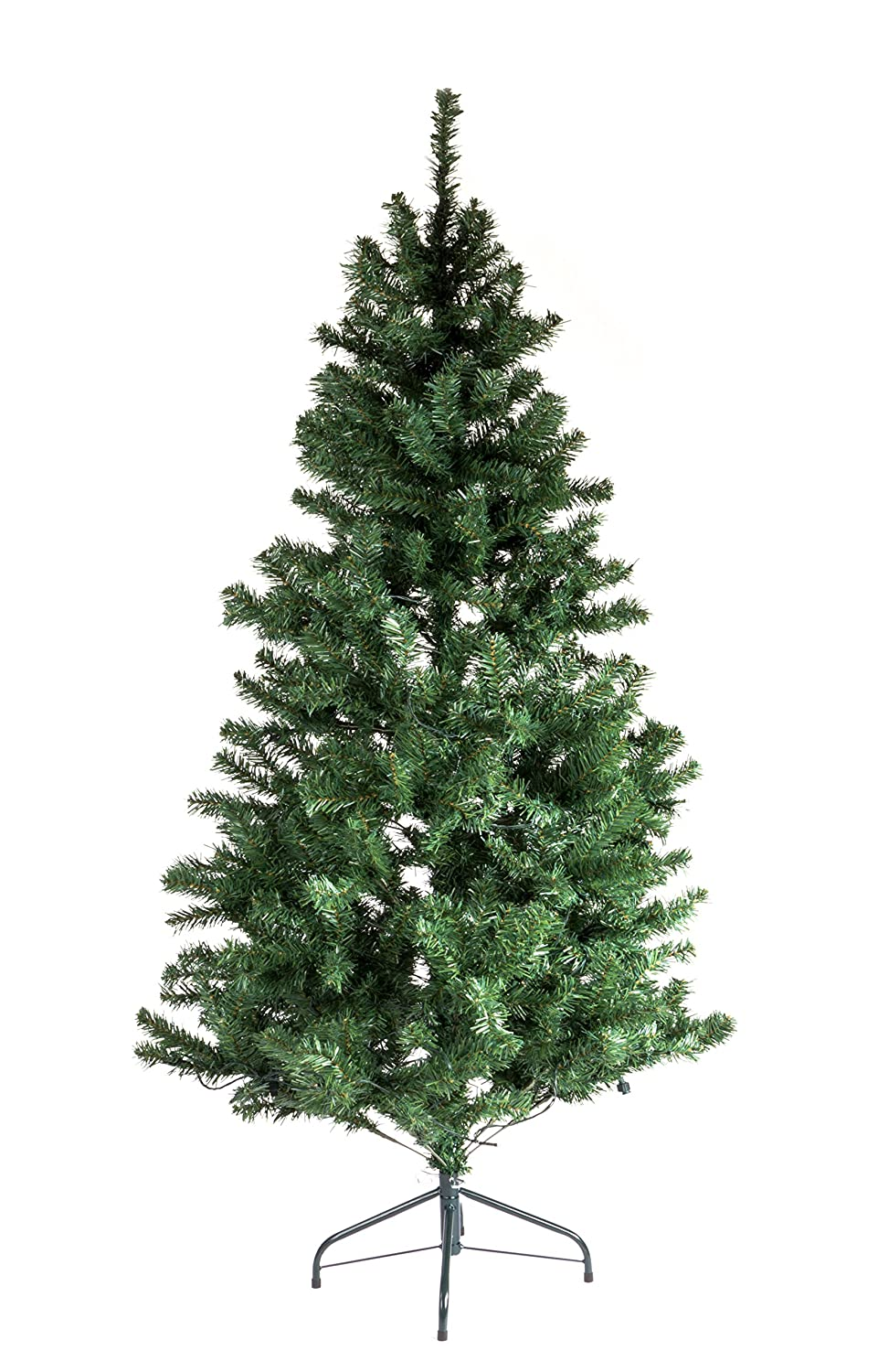 5ft Pre Lit Christmas Trees Artificial Christmas Tree with Warm White LEDs and Metal Stand (5ft - 350 tips / 70 LED) DSL