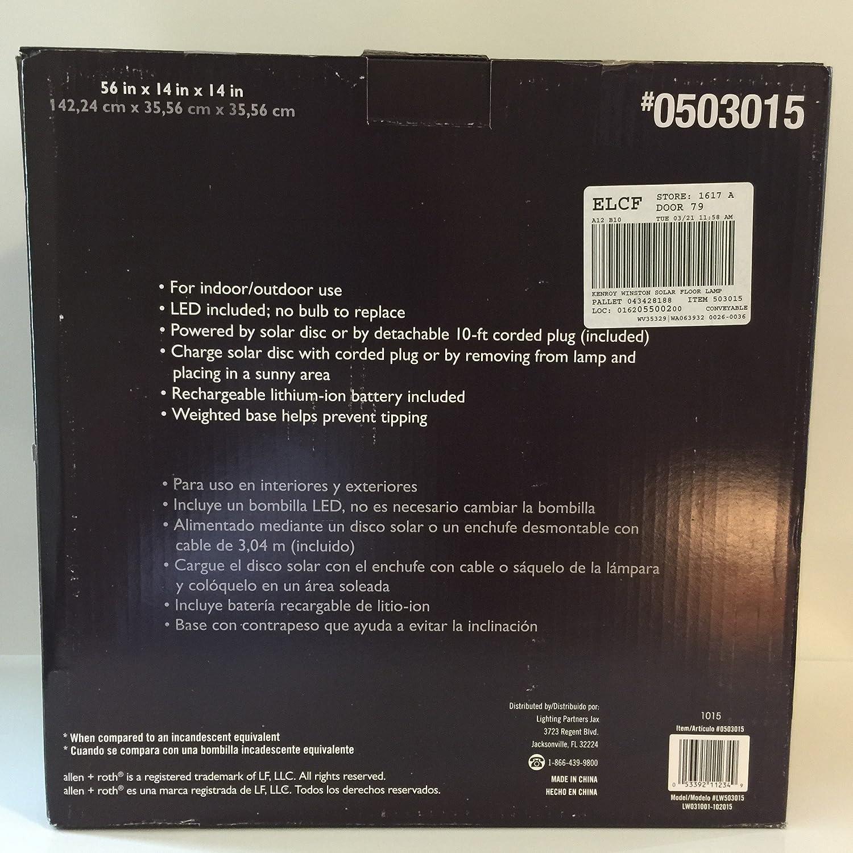 Amazon.com : allen + roth Cadenby 56.0-in Bronze Solar 3-Way Floor Lamp with Fabric Shade : Garden & Outdoor