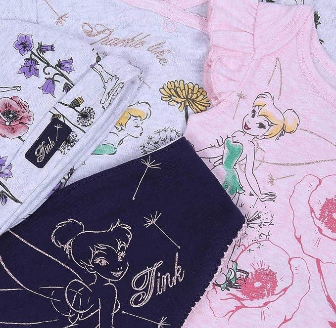 Ensemble b/éb/é Rose-Gris /à Fleurs La F/ée Clochette Tinker Bell Disney
