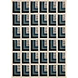 Now House by Jonathan Adler Pierre Collection Area Rug, 5' x 7', Ivory and Blue