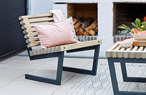 Lounge sessel garten holz  Amazon.de: Sessel Siesta Plus Gartensessel Lounge Sessel Garten ...