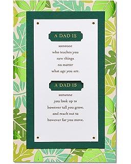 Amazon american greetings chevron fathers day card with foil american greetings leaves fathers day card with foil m4hsunfo
