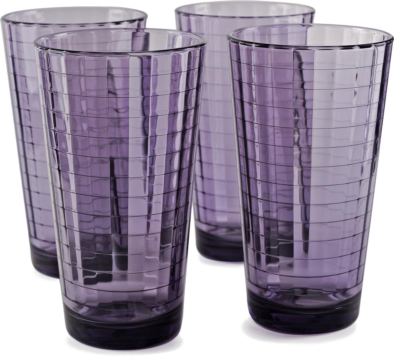 Amazon.com: Circleware 44824 Windowpane Ciruela bebida vasos ...