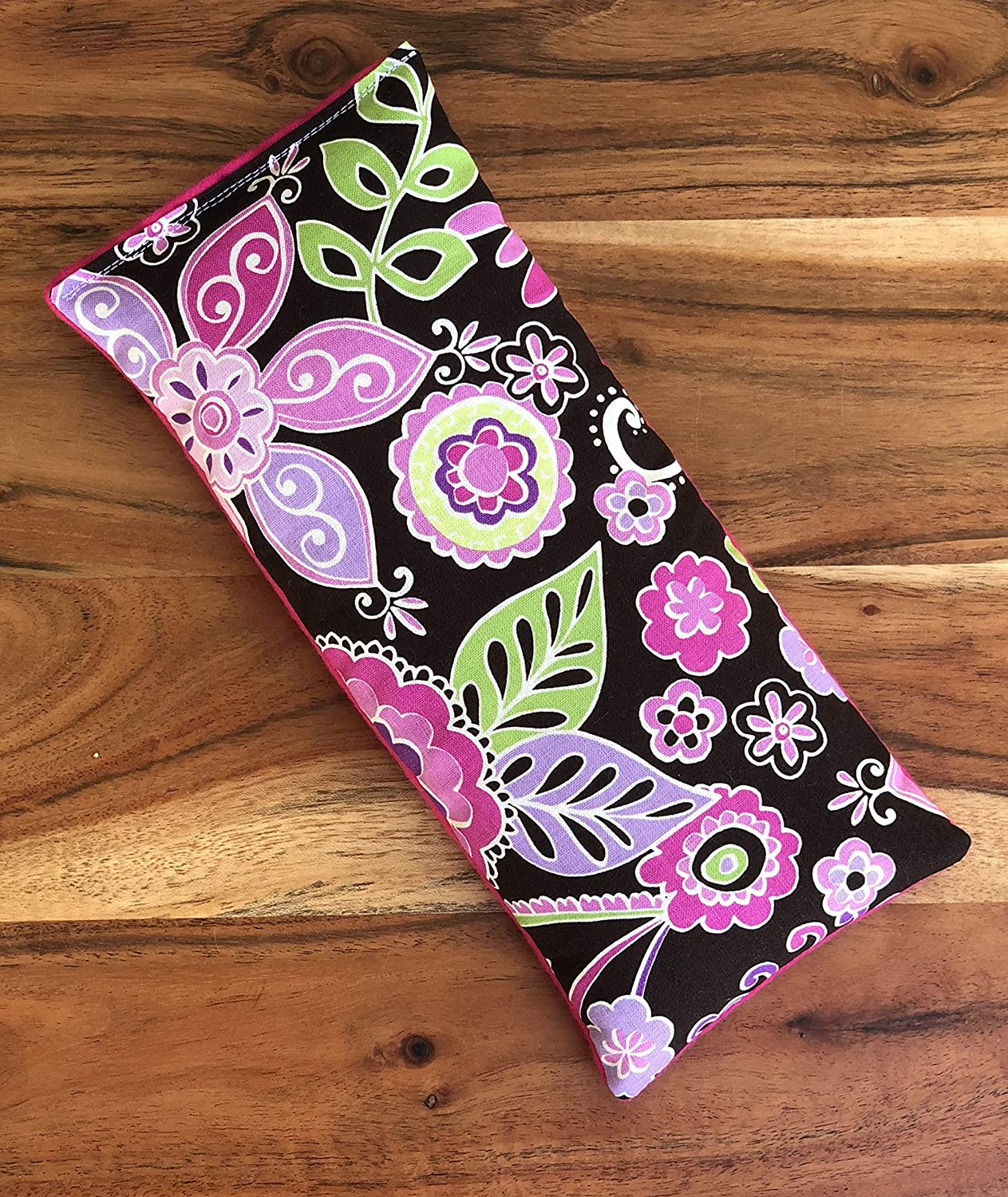 Microwave Heating Pad with Flax Seed and Dried Lavender Gift for Mom