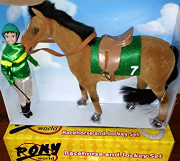Amazon.com: Carrera caballo y Jockey Set – Verde Jockey – pw ...