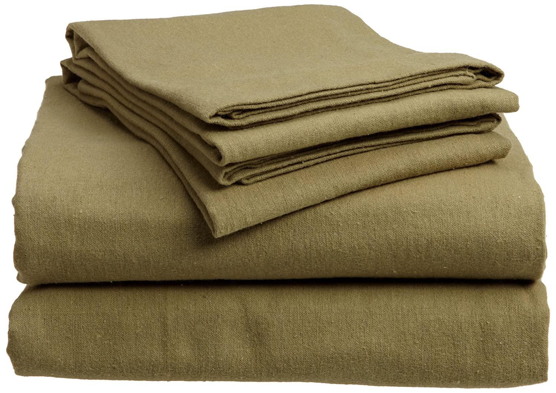 Green King Divatex 100-Percent Cotton Flannel Full Sheet Set, Merlot