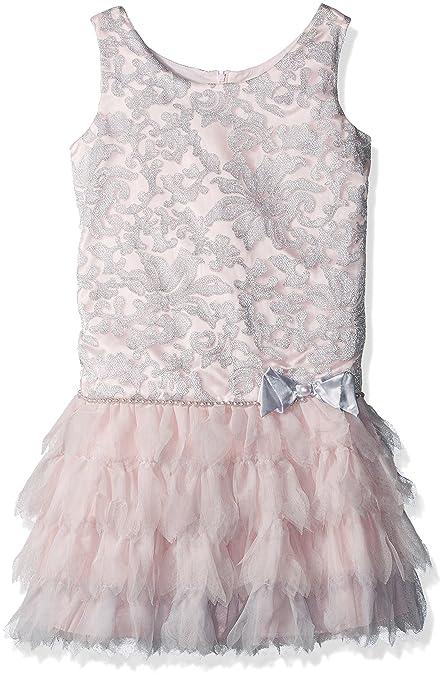 1920s Children Fashions: Girls, Boys, Baby Costumes Biscotti Girls Royal Treatment Drop Waist Dress with Petal Skirt $104.00 AT vintagedancer.com