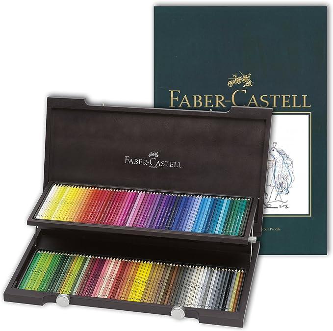 Faber-Castell Polychromos - Lápices de colores con bloc de dibujo A4: Amazon.es: Oficina y papelería
