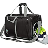 Bago Gym Bags for Women and Men - Small Packable Sports Duffle Bag for Women with Shoe Compartment and Wet Pocket