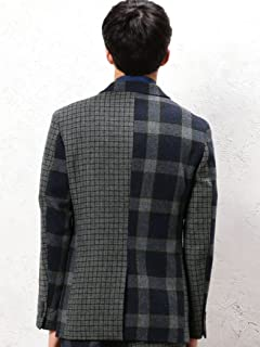 Crazy Pattern Tweed Jacket 3222-186-2106: Navy