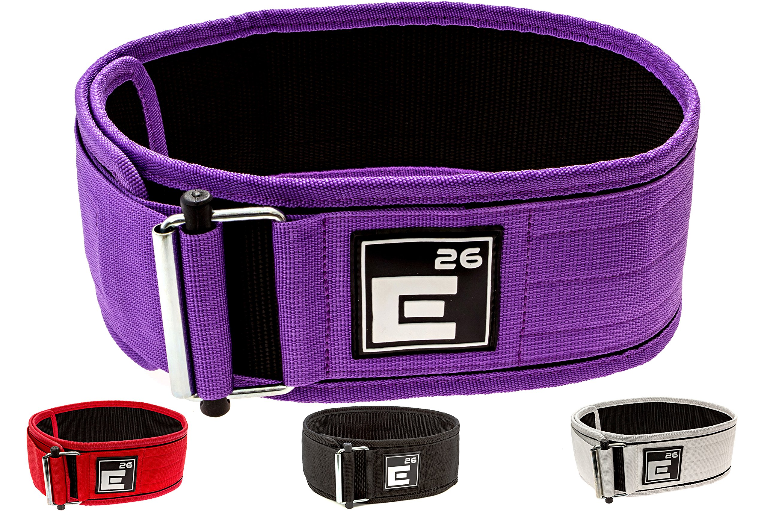 Element 26 Self-Locking Weight Lifting Belt | Premium Weightlifting Belt for Serious Crossfit, Weight Lifting, and Olympic Lifting Athletes (Extra Small, Purple)