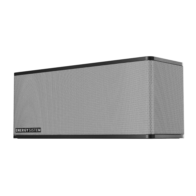 Energy Sistem Music Box 7+ - Altavoz portátil de 20 W (Bluetooth, microSD, MP3, FM Radio) Color Negro y Plata