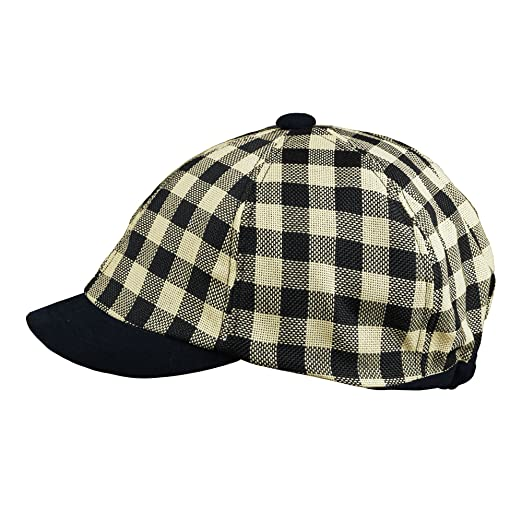 Morehats Linen Checkered Packable Round Cap Newsboy Cap Gatsby Hat - Black  at Amazon Women s Clothing store  39fdf8fbf9c7