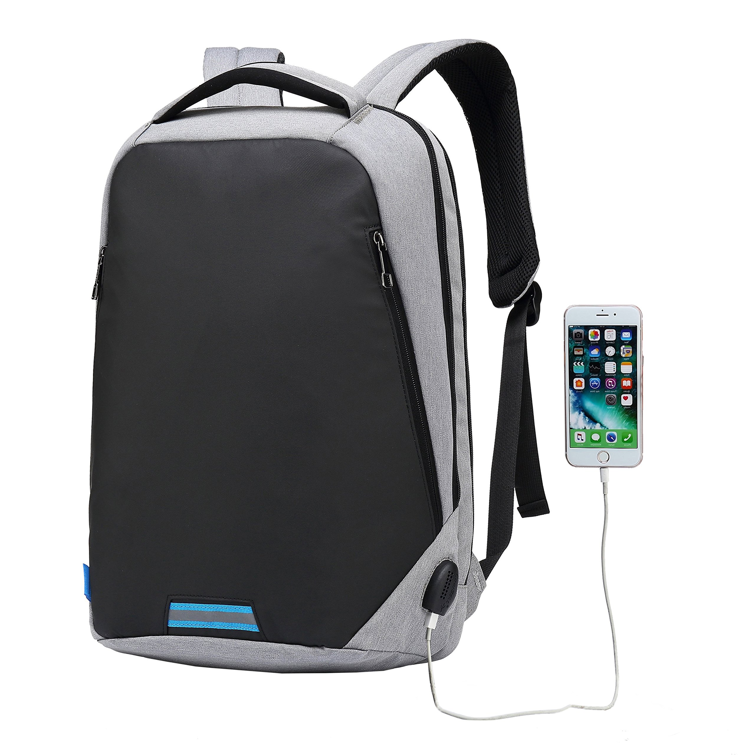 Commuter Backpacks 15 Inch Business Laptop Backpack for Men Women Waterproof Notebook Computer Backpack with USB Port