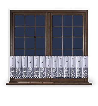 Promag Scheibengardine Weiss Vintage 40 60 Cm Hoch Vorhang