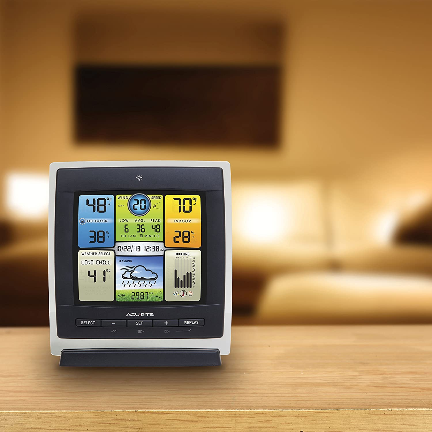 amazon com acurite 00589 pro color weather station with wind