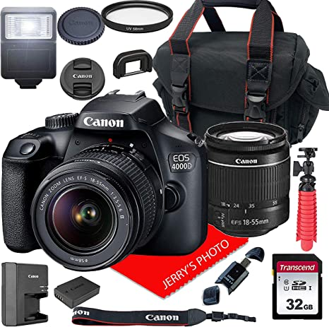 Amazon.com: Canon EOS 4000D / Rebel T100 Cámara DSLR con ...