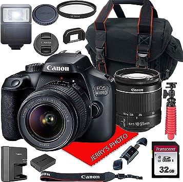 Amazon.com: Canon EOS 4000D / Rebel T100 Cámara DSLR con ...