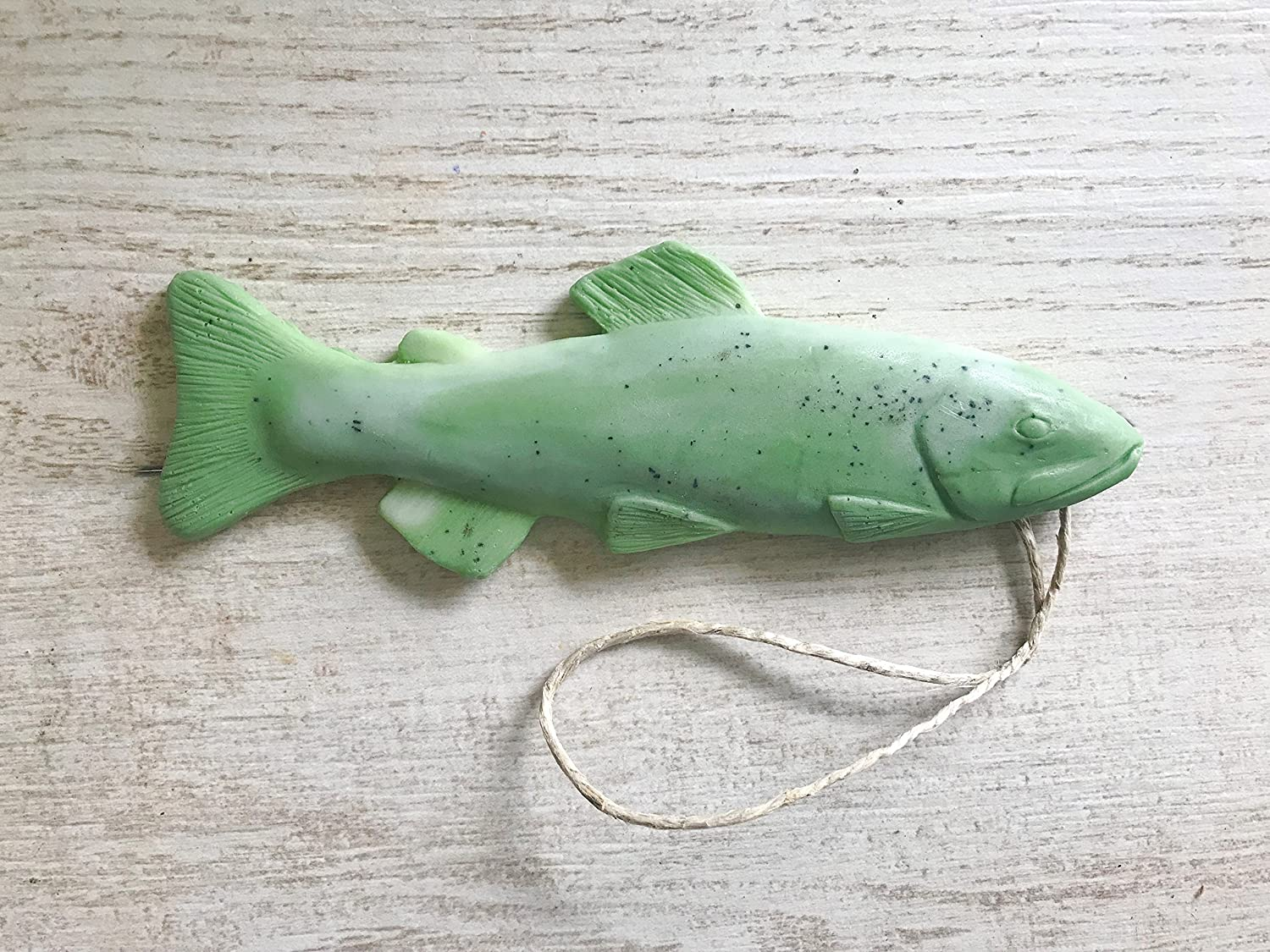 Trout Soap on a Rope by Dope on a Rope, Fishing Gifts, Gifts for Him, Green Eucalyptus Peppermint Soap, Beauty & Personal Care, Funny Gifts, Best Stocking Stuffer, Handmade Soap Bar, Novelty Gift