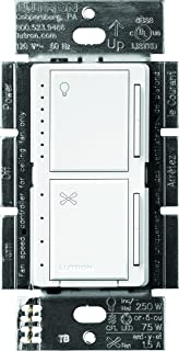 Lutron Maestro Fan Control and Light Dimmer for dimmable LEDs, Incandescent and Halogen, Single