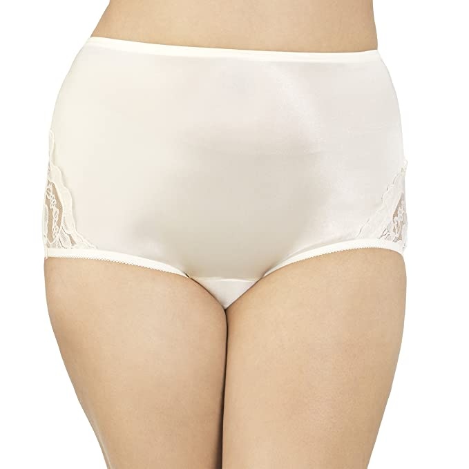 2395844de84e Vanity Fair Women's Plus Size Perfectly Yours Lace Nouveau Brief Panty  13001, Candleglow, 2X