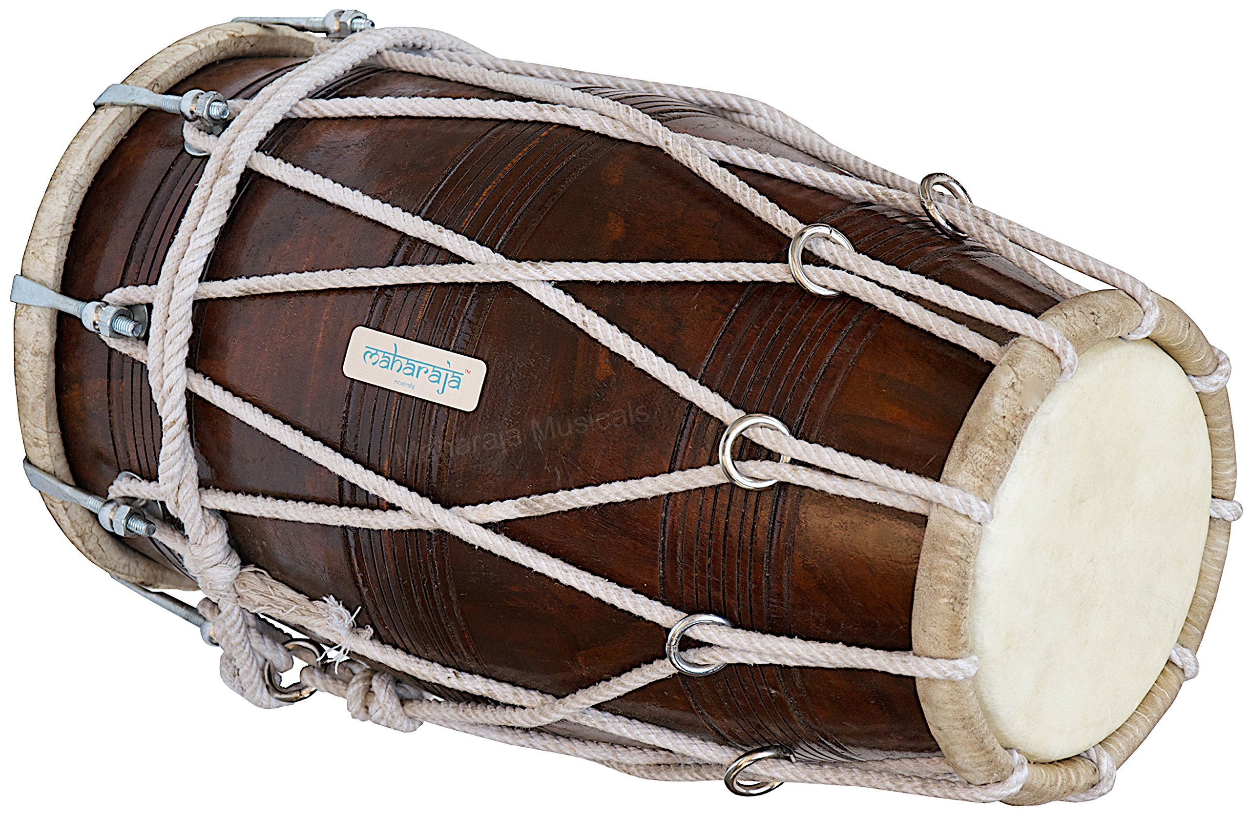 Special Dholak Drum by Maharaja Musicals, Professional Quality, Sheesham Wood, Padded Bag, Spanner, Dholki Musicals Instrument (PDI-BBC) by Maharaja Musicals (Image #2)