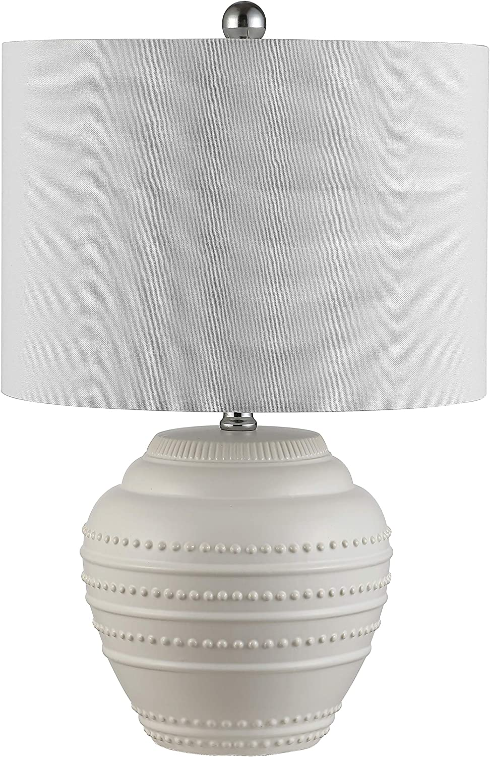 Safavieh Lighting Collection Lenon 22 Inch White Ceramic Table Lamp Led Bulb Included Tbl4347a