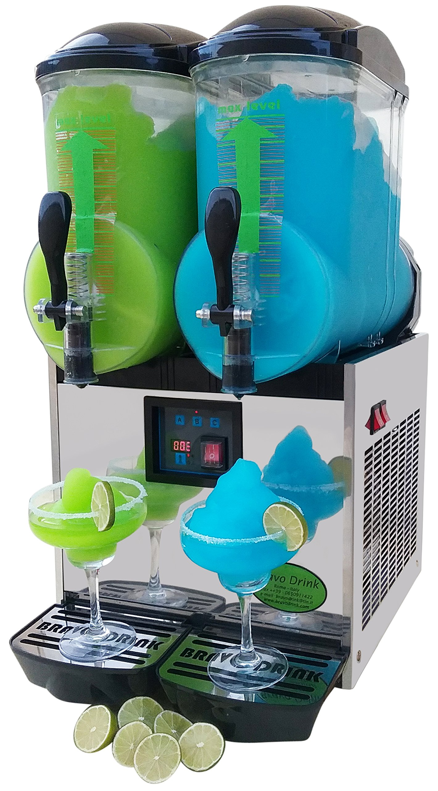 Amazon.com: Brand : BRAVO ITALIA 2 bowls slushie machine 3.2 gallons ...