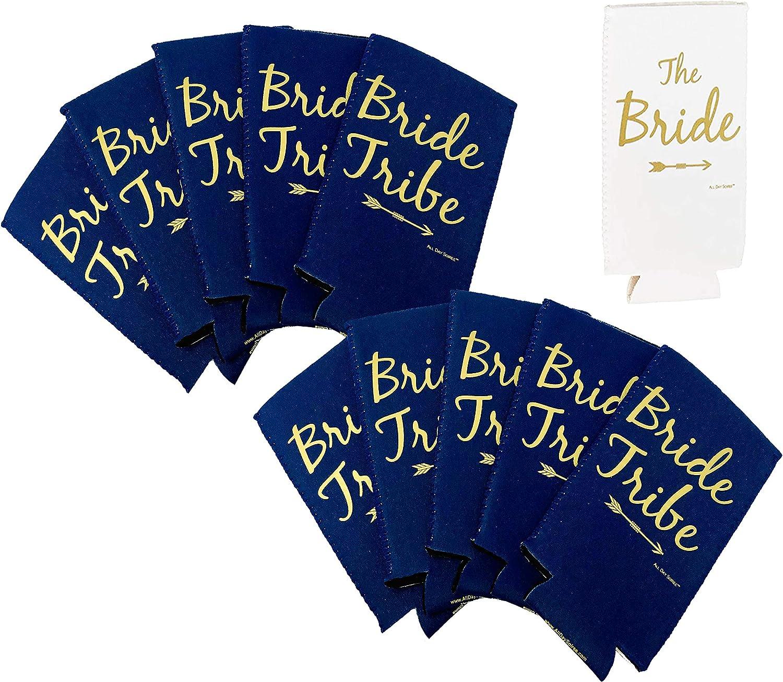Bride Tribe Bachelorette Party Favors Holiday Christmas Festive Ugly Sweater | Paquete de enfriadores de bebidas verde menta rosa | Suministros de decoración Regalos latas mangas de botella