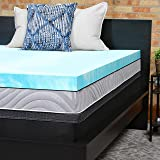 Sealy Performance 3-Inch Cooling Gel Memory Foam Mattress Topper Washable Cover, 5 YR Warranty, King