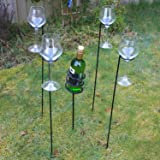 These Wine Bottle Glass Holders are Ideal for Your Barbecue Beach Party or Event 100% Lifetime Guarantee Garden Wine and Glass Holder