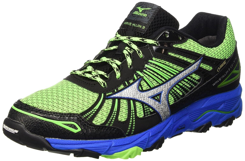 Mizuno Wave Mujin G-TX, Zapatillas de Running para Hombre 42 EU|Verde (Greengecko/Silver/Skydiver)