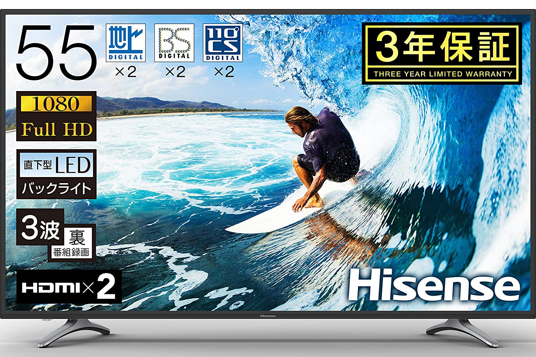 Hisense フルハイビジョン LED液晶テレビ 55K30