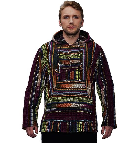 Amazon com: manakamana Mens Baja Hoodie, Poncho Jacket: Clothing