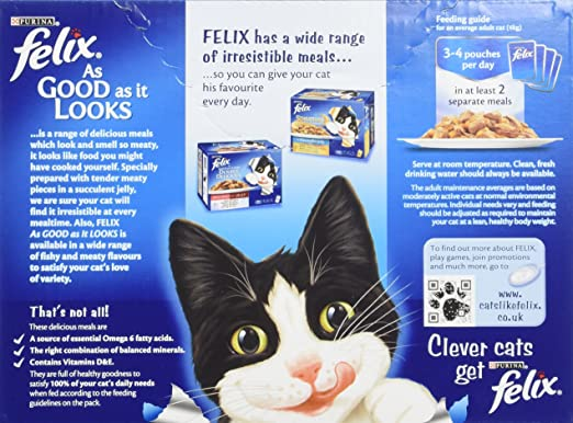 felix as good as it looks meat selection in jelly 12 x 100 g pack of 4 total 48 pouches john glasby amazon co uk pet supplies