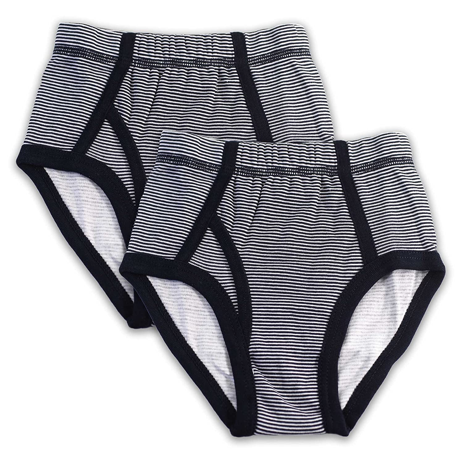 Full Cut Underwear Briefs 2 Pack Key Chain Cotton Panties for Boys