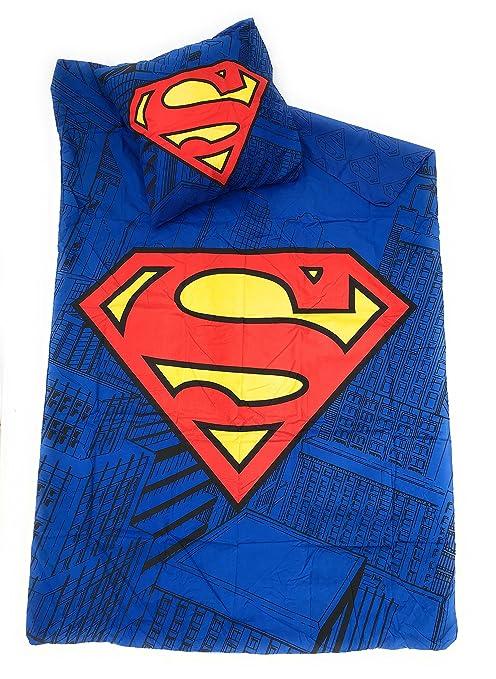 Copripiumino Superman.Superman Dc Comics Parure Di Letto Copripiumino Reversibile 140
