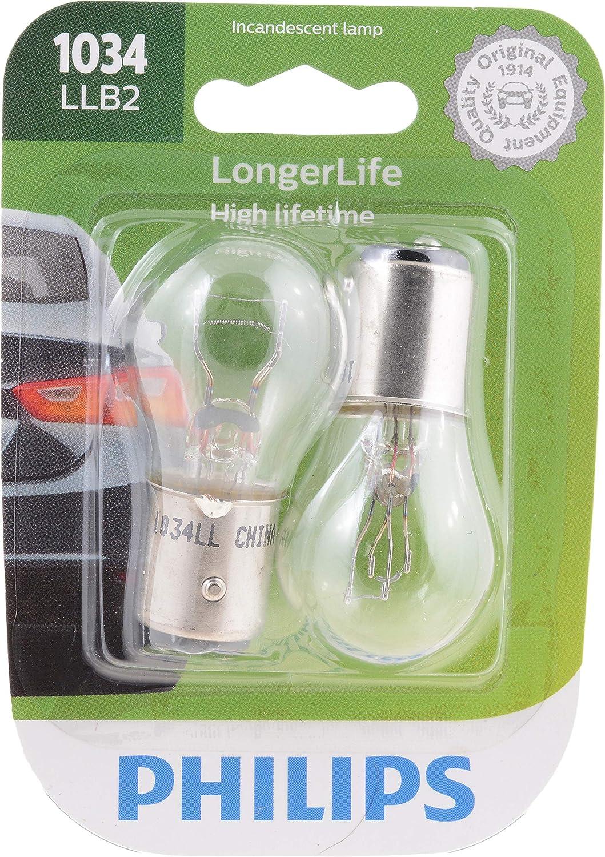 2 Pack Philips 1073 LongerLife Miniature Bulb