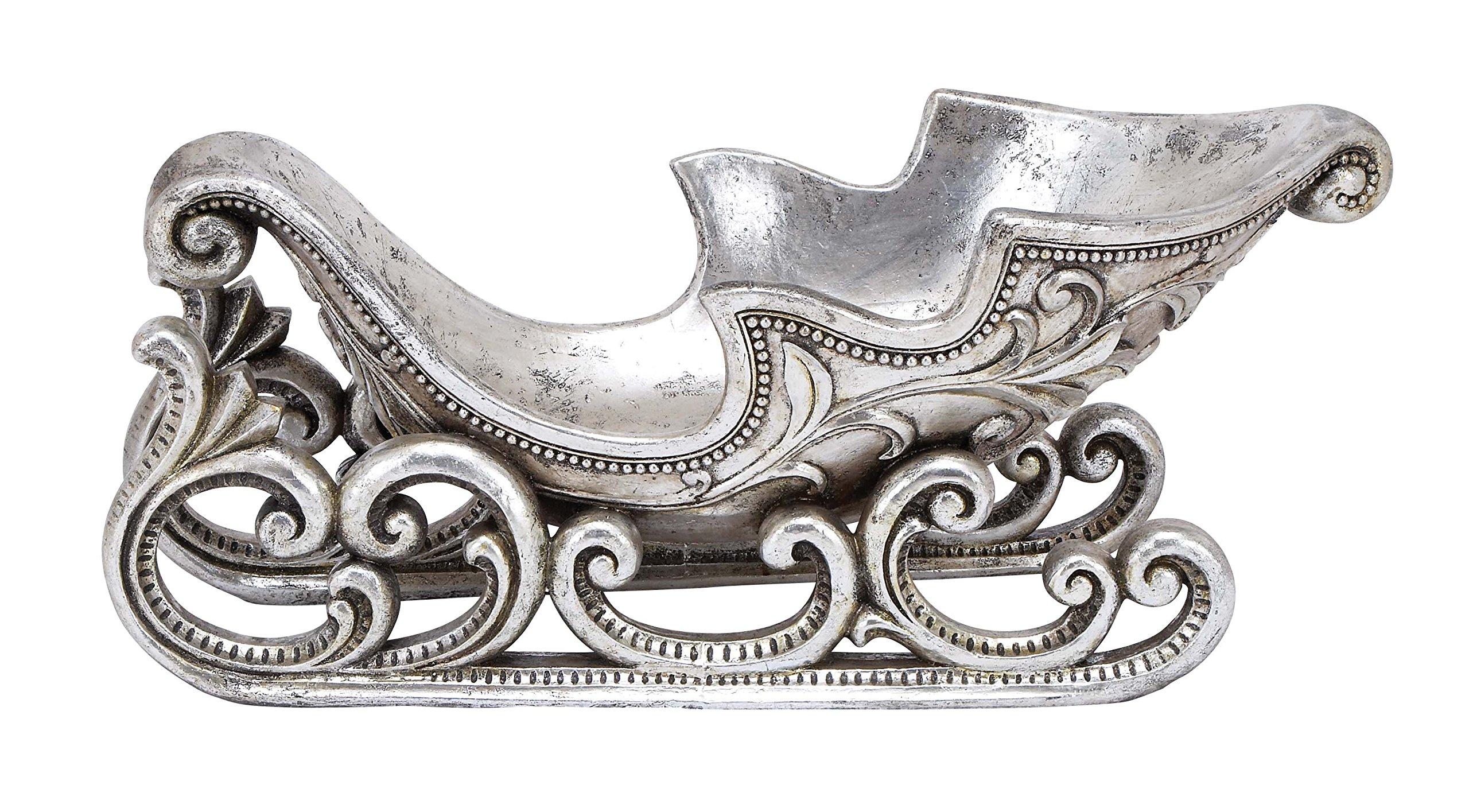 Plutus Brands Awestruck Xmas Sled, Silver Finish