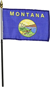 Us Flag Store Montana Flag, 4 by 6-Inch
