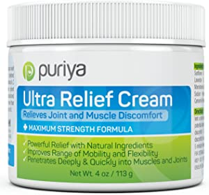 Puriya Ultra Sports Cream with Natural Menthol. Fast Acting, Long Lasting. Apply After Workout, Gardening, Climbing Stairs. Plant-Based. Mild Pleasant Fragrance. Formulated for Athletes of All Levels
