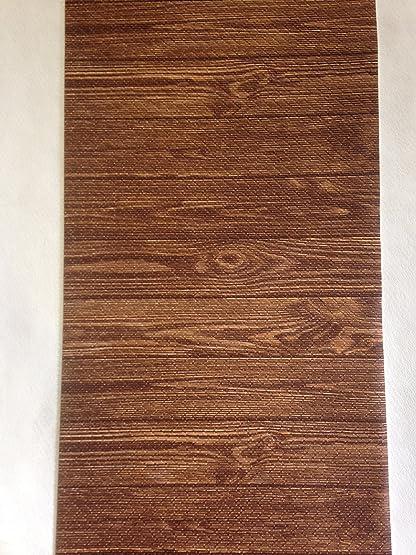 Tappeto cucina a metraggio PVC largo 55 marrone legno parquet ...