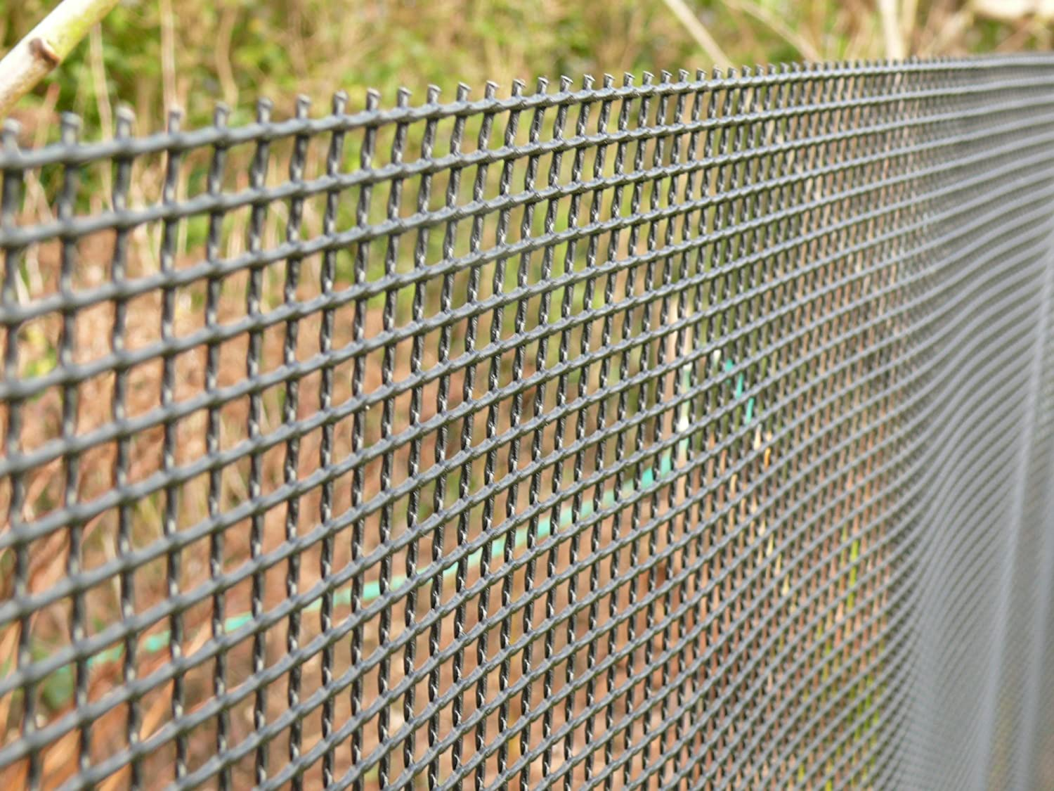 Plastic Garden Fencing 1m X 10m Black 5mm Holes Green Netting Robust Fence  Mesh   Ideal For Plant, Pet, Vegetable Protection Screening And Climbing  Plant ...