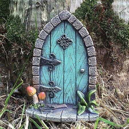Decoración para árbol de jardín, diseño de en forma de puerta de duende, elfo o hada, accesorio extravagante y divertido, 9 cm de alto: Amazon.es: Hogar