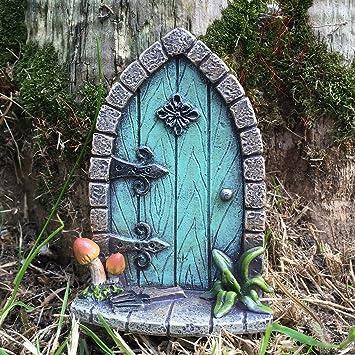 Amazonde Prezentscom Miniatur Pixie Elf Feentür Baum Garten