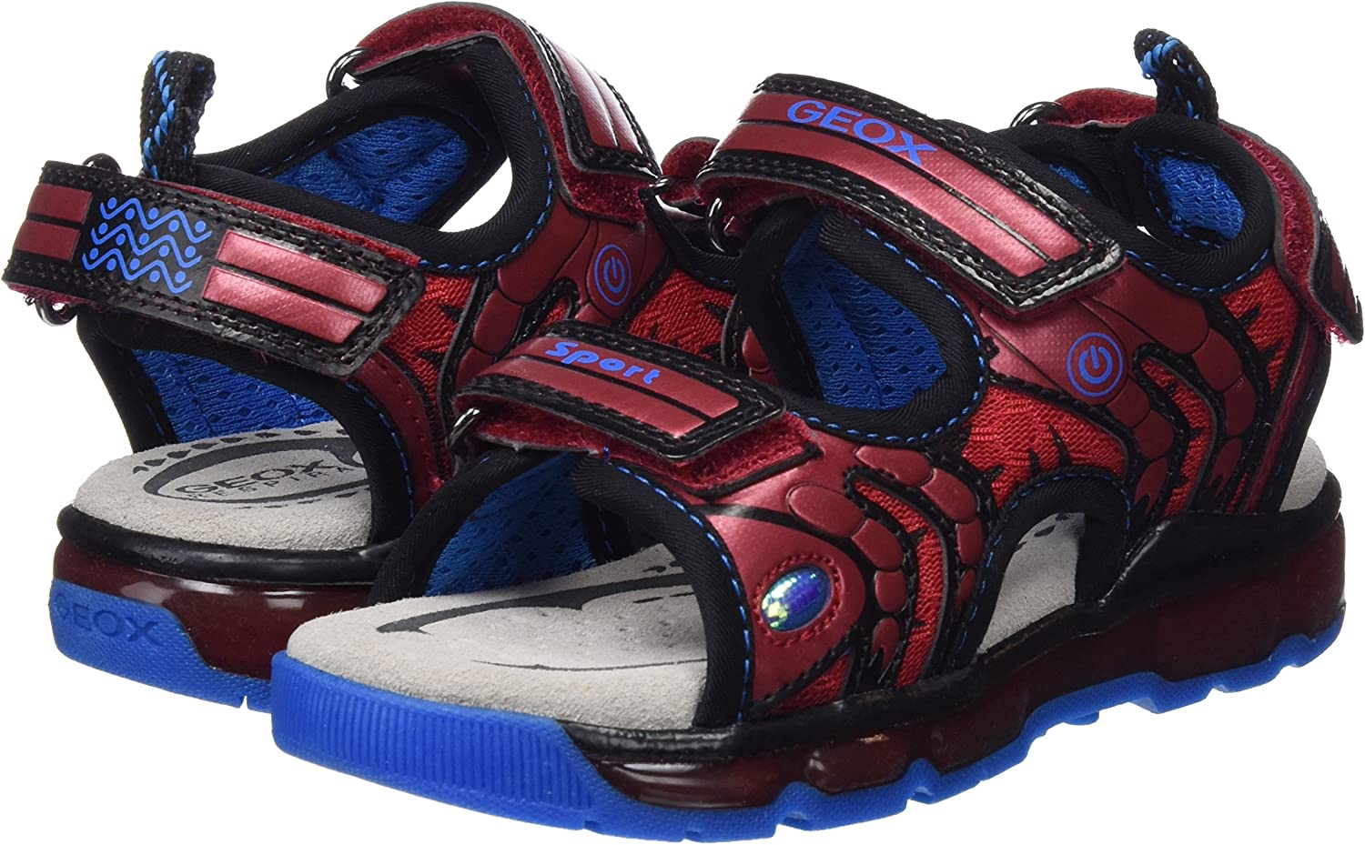 Geox Boys/' J Android B Open Toe Sandals