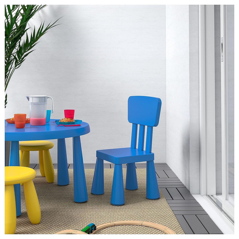 B2C Ikea Mammut Kindertisch, Blau und Mammut Kinder Stuhl, Blau (2 ...