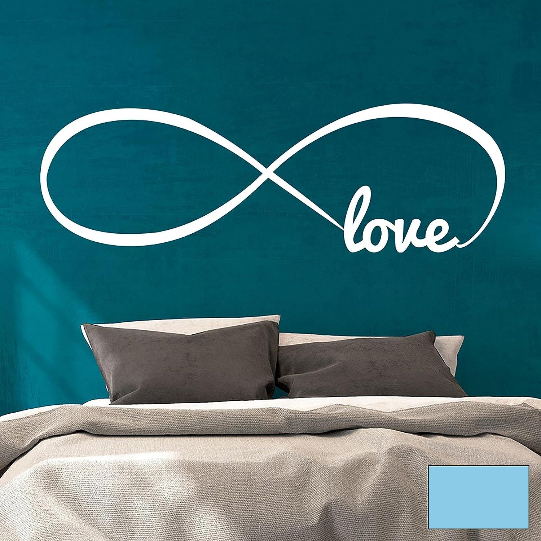Wandtattoo Wandaufkleber endlose Liebe Unendlichkeit Unendlichkeit Unendlichkeit Symbol Infinity Love M1764 - ausgewählte Farbe  Schwarz - ausgewählte Größe  XXL - 140cm breit x 45cm hoch B01BMK96XI Wandtattoos & Wandbilder 228881