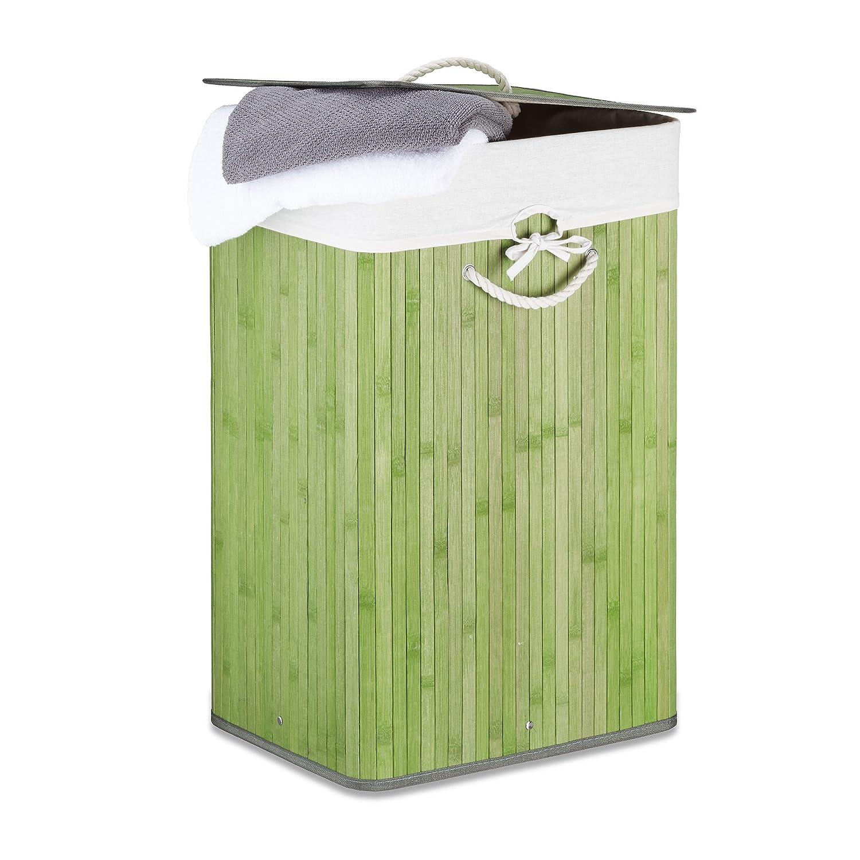 Cesto ropa de bambú plegable